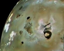 Loki Patera, the largest volcanic feature on Io