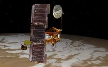 view of mars odyssey in orbit