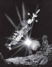 1959 artist's concept of a nuclear-powered rocket