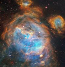 A stellar nursery in the Large Magellanic Cloud