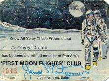 Reservation for a flight to the Moon