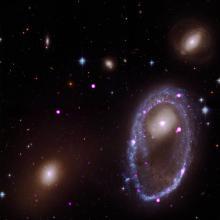 Black holes around a ring galaxy