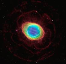 Visible and infrared image of Ring Nebula