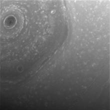 Cassini view of Saturn's north pole