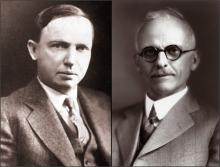 Harlow Shapley (left), Heber Curtis