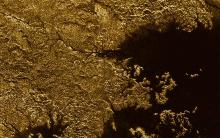 Canyons and lakes on Saturn's moon Titan