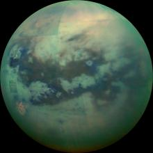 Cassini infrared view of Titan