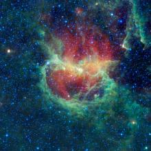 Infrared view of Lambda Centauri Nebula