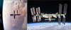 International Space Station in 2000 (left) and 2018