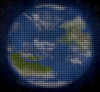 Artistic idea of a planet imaged through a solar gravitational lens